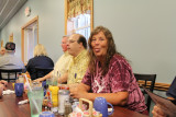 Scott McRee, Kathie Bradish Hendrickson at Robin's Nest Restaurant for breakfast
