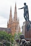 Apollo atop Archibald Fountain