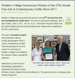 2011 Founders Award at Peddlers Village Fine Arts Festival