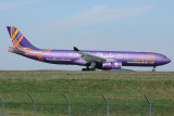 Etihad Airbus A330-300  A6-AFA Travellers welcome