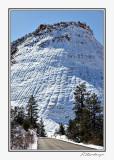 Checkerboard Mesa in Snow