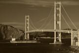 Ship Under Golden Gate Bridge