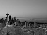 Dawn in Seattle, with Mt Rainier