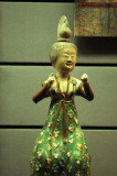 A Royal Maid, Tri-colors Pottery, Tang Dynasty, Shaanxi State History Museum