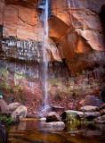 Zion NP Upper Falls at Emerald Pools