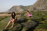 Francisca and Laura at Barriga beach