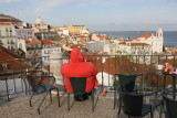 Admiring the view to Alfama