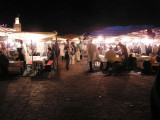 Food Market at Djemaa el-fina Square in Marrakech