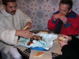 Eating Roasted Lamb with our Hands--the Moroccan way