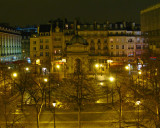 View from Hotel Window at Night