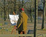 Painter at Jardin des Tuileries