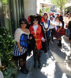 Pirates in the French Quarter on Saturday