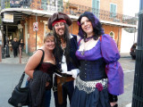 Pirates on Chartres Street on Saturday