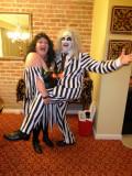 Jeanie & Beetlejuice in Coordinating Stripes