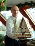 Joseph with Gingerbread House