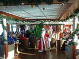 Santa & Helper Arrive with Christmas Tree