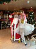 Santa & Helper in Lobby
