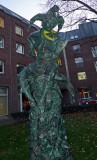 Jester Statue Honoring Carnival in Dusseldorf