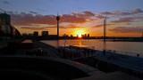 Sunset in Dusseldorf, Germany