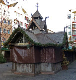 Gluhwein Stand Built in Style of Stave Church