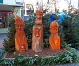Carved Wisemen in Old Market Square, Cologne