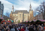 Christmas Market in front of Aachen City Hall