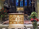 Remains of Charlemagne in Aachen Cathedral
