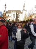 Having Gluhwein at Aachen Christmas Market