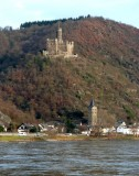Burg Maus above the Village of Wellmich, Germany