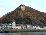 Katz Castle sits Above the Town of St. Goarshausen