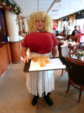 The Lovely Lorelei Serving Drinks in the Lounge