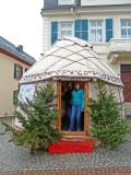 Tent at Rudesheim Christmas Market