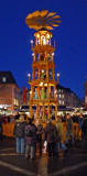 Giant German Christmas Pyramid in Mainz