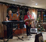 The 'Duo Ambiente' Performing in the Lounge on the River Navigator