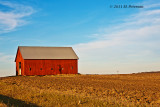 Some barns really stand out when the crops have been harvested.