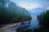 Temperance river flowing into Lake Superior