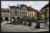 A square in Bielsko Biala, Poland...