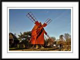 red windmill...