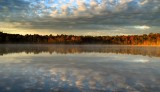 Carbuncle pond at sunrise.