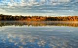 Carbuncle  pond just after sunrise.