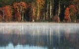 Rising mist on Carbuncle pond.