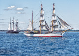 Parade of sail in Newport harbor.