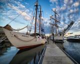 Tall ships early morning Newport RI. 7/9/12