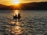 Sunset Newfound lake NH.