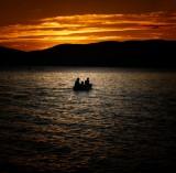 Last light on Newfound lake NH.
