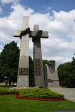 Crosses in Poznañ commemorating the 1956 protests and subsequent Polish protests against the Communist political system