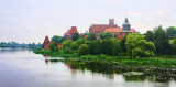 Malbork Castle - view on castle from across the River Nogat