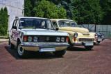 Mini meet with classic cars