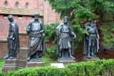Figures of the Teutonic Grand Masters - Herman Von Salza, Siegfried von Feuchtwangen, Winrich von Kniprode, Albrecht Hohenzoller