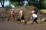 Archaeological excavations in summer time